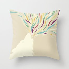 The Harlequin's Wolf Throw Pillow