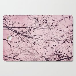 boughs pink Cutting Board