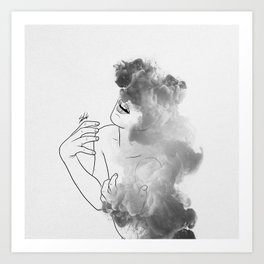 War of thoughts. Art Print