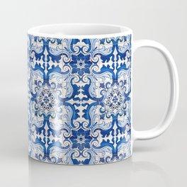 Blue Azulejo Tile Portuguese Mosaic Pattern Coffee Mug
