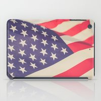 american flag iPad Cases featuring American Flag by Leah M. Gunther Photography & Design