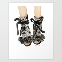 Designer Bridal Shoes Art Print