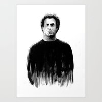 snl Art Prints featuring DARK COMEDIANS: Will Ferrell by Zombie Rust