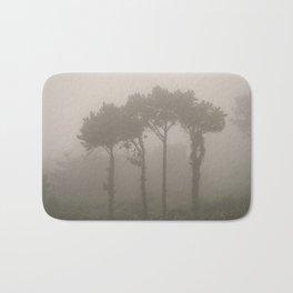 Four Pine Trees in the Fog Bath Mat