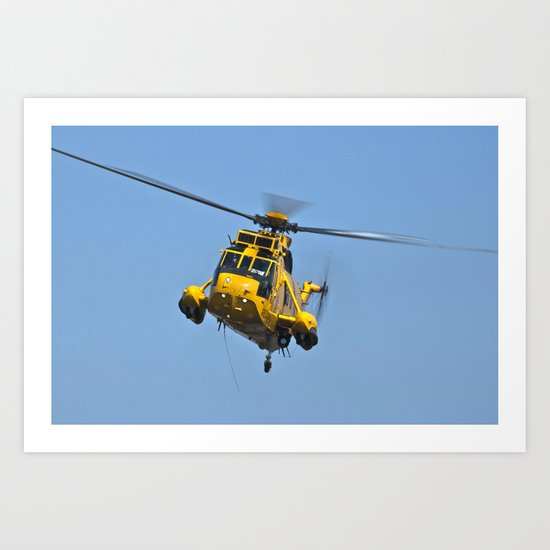 RAF Sea King Search & Rescue Helicopter Art Print
