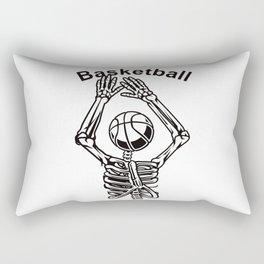 Basketball Skeleton Triko Ball Gift Rectangular Pillow