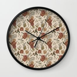 Antique Floral Pattern Wall Clock