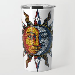 Celestial Mosaic Sun and Moon Travel Mug