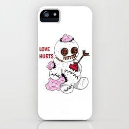 love hurts voodoo doll Divorce Break Up iPhone Case