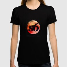 art for all MEDIUM Black Womens Fitted Tee