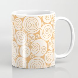 Still Waiting For Spring Bright Orange Pattern Coffee Mug