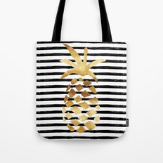Pineapple & Stripes Tote Bag