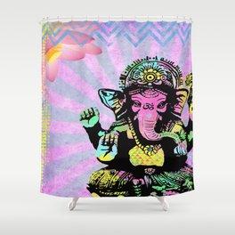 Ganesha Rainbow Shower Curtain