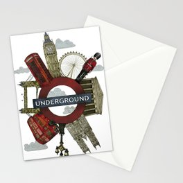 Around London digital illustration Stationery Cards