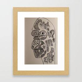 Homer Chimp Framed Art Print