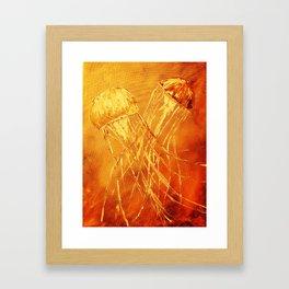 Orange Dance of the Sea Framed Art Print