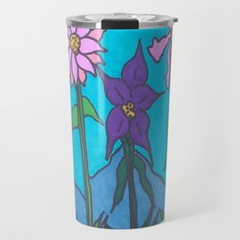 Blue Mountain Flowers Travel Mug