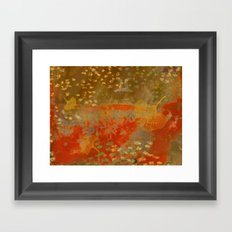 Ginkgo Leaves on Rust Background Framed Art Print