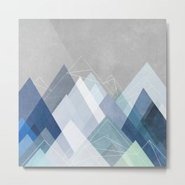 Graphic 107 X Blue Metal Print