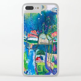Traveling Into Infinity Clear iPhone Case