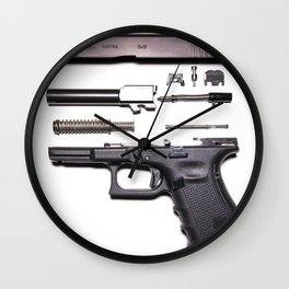 Anatomy Of A Gun Wall Clock