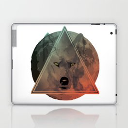 Wolf Galaxy (Green) Laptop & iPad Skin