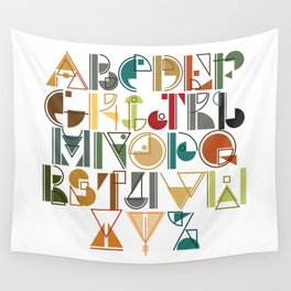 geometric alphabet v1 Wall Tapestry