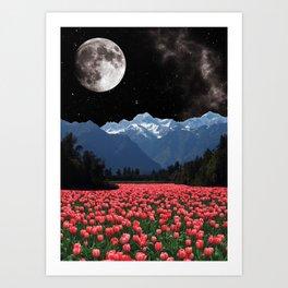 Tulip Lake Art Print