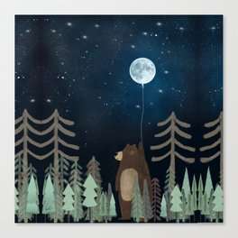 the moon balloon Canvas Print