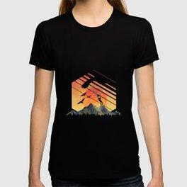 Vintage TEE Sun Sunset Clothing Parachute T-shirt