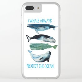 whales alwhales Clear iPhone Case
