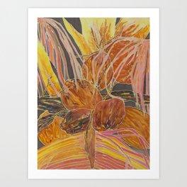 Brown Cocohearts Art Print