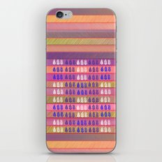 Leaves pattern in multicolor iPhone & iPod Skin