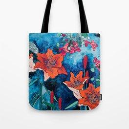 Blooming Night Garden: Twilight Tote Bag
