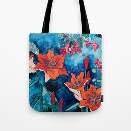 Blooming Night Garden: Twilight Tote Bag