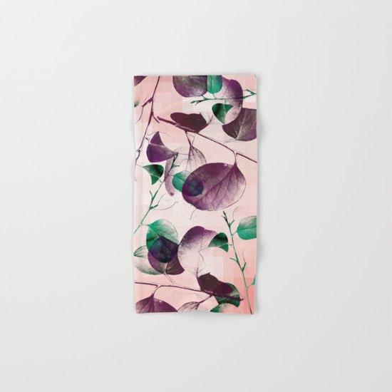 Spiral Eucalyptus Leaves Hand & Bath Towel