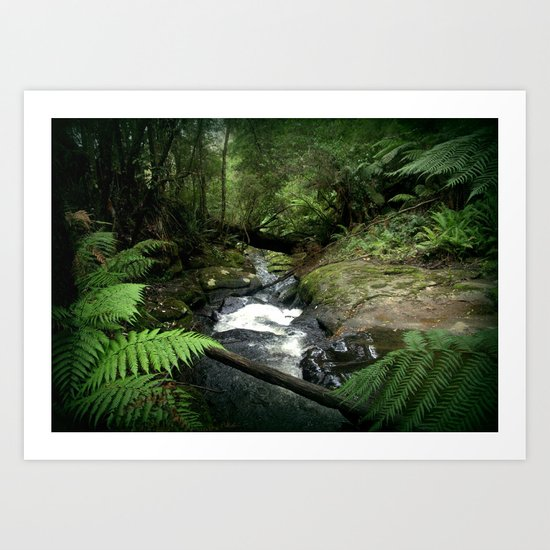 Cool Stream Art Print