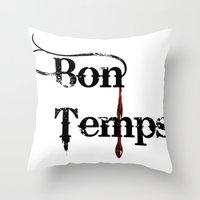 true blood Throw Pillows featuring true blood by macnicolae