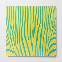 Funky zebra v2 Metal Print