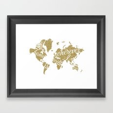 At Home in the World Framed Art Print