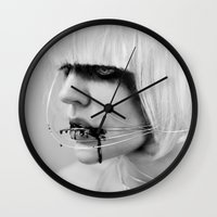 the wire Wall Clocks featuring wire. by Miklos