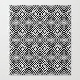 Black White Diamond Pattern Canvas Print
