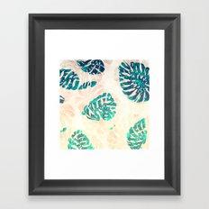 CALI TROPICAL LEAVES Framed Art Print