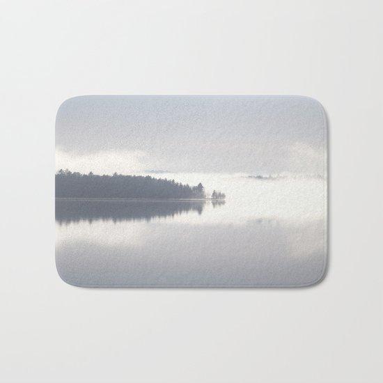 Reflecting By The Lake Bath Mat