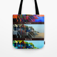 Funky Beach Huts (Triptych) Tote Bag