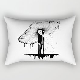 mushroom lady Rectangular Pillow