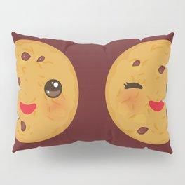 Kawaii Chocolate chip cookie Pillow Sham