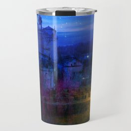 The monastery at night Travel Mug