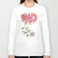 tequila Long Sleeve T-shirts featuring Tequila Sunrise by Mary Holland