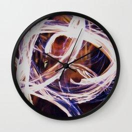 Fire Poi Wall Clock
